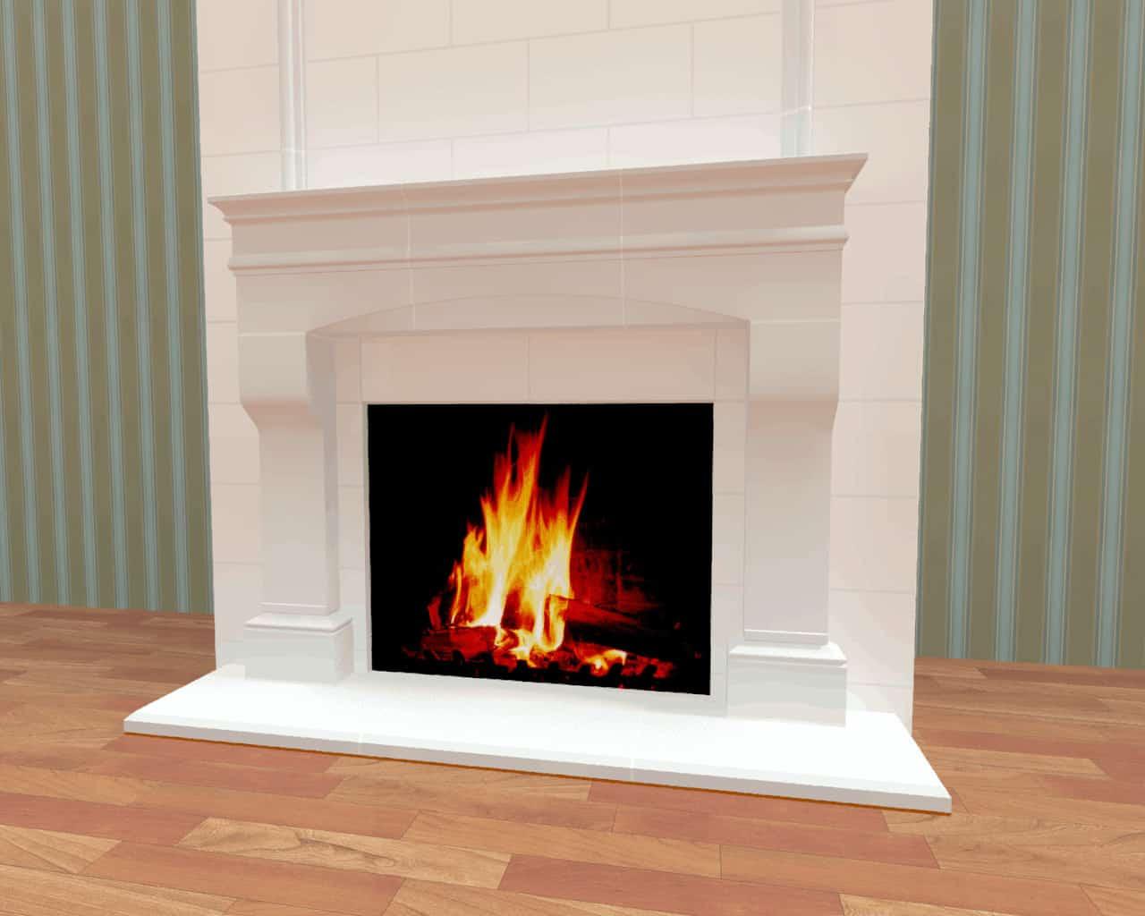 Fireplace Render 7