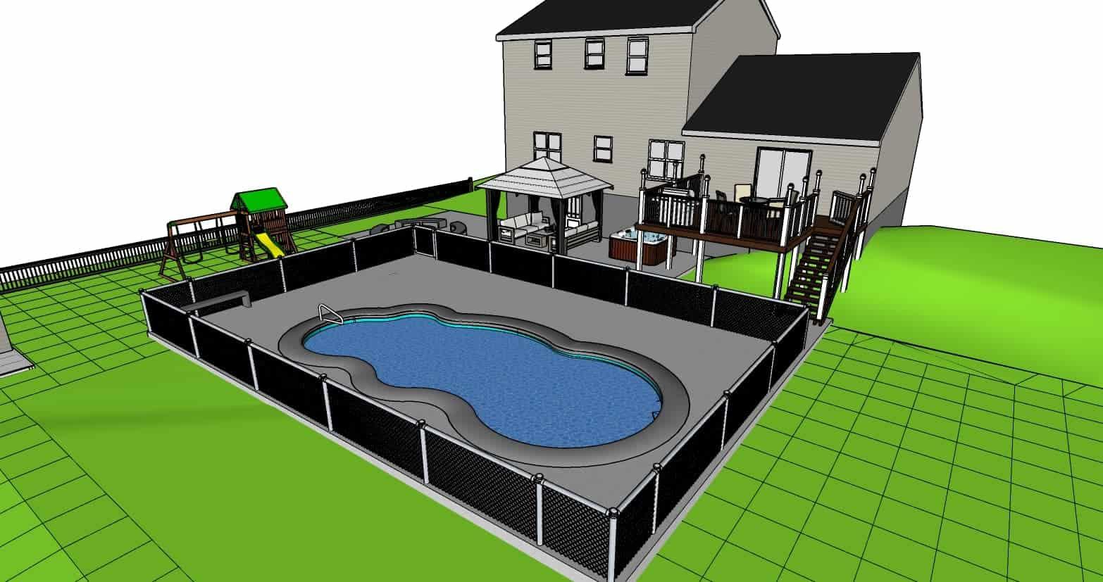Sketchup Pool Job