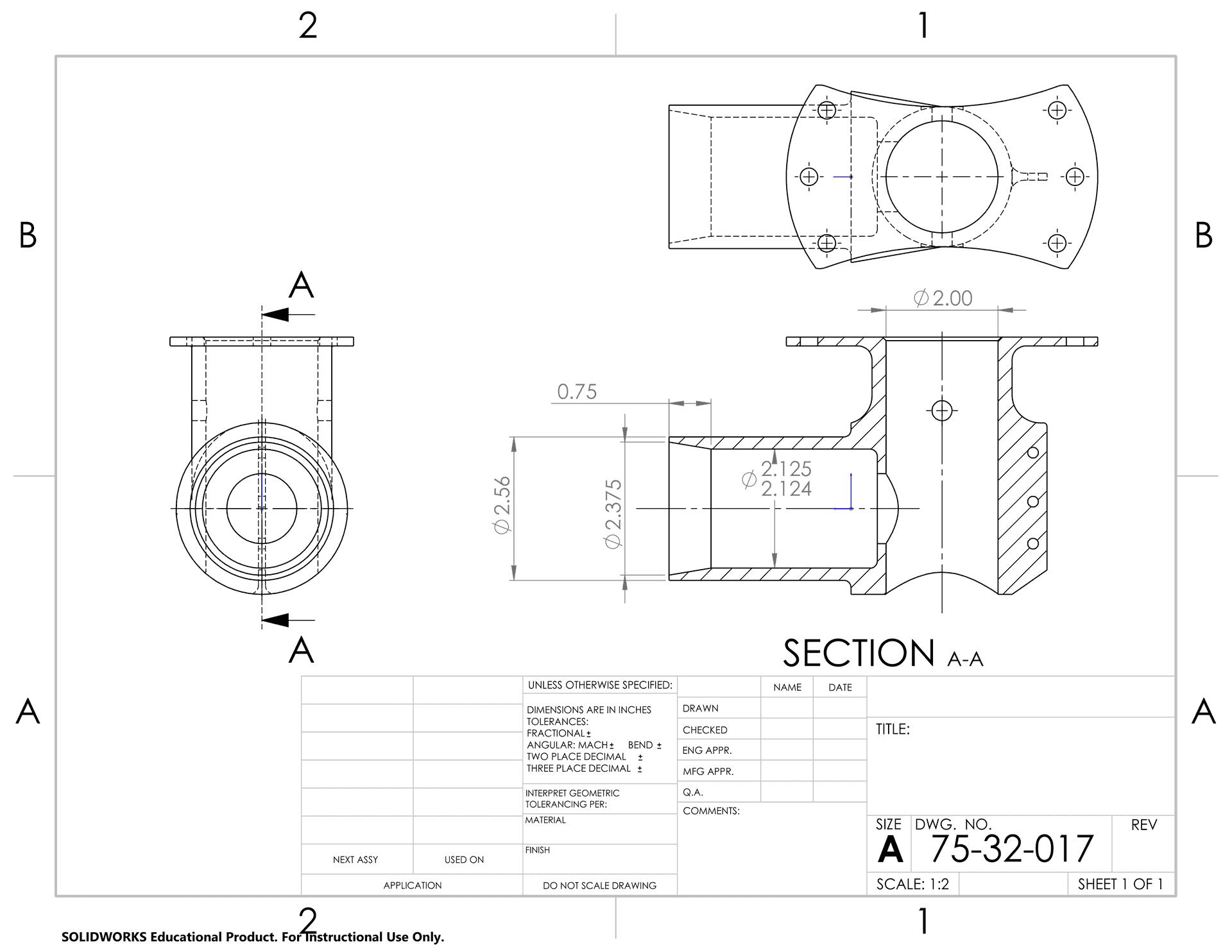 75-31-017 Fitting L.G. OLEO Strut Axle