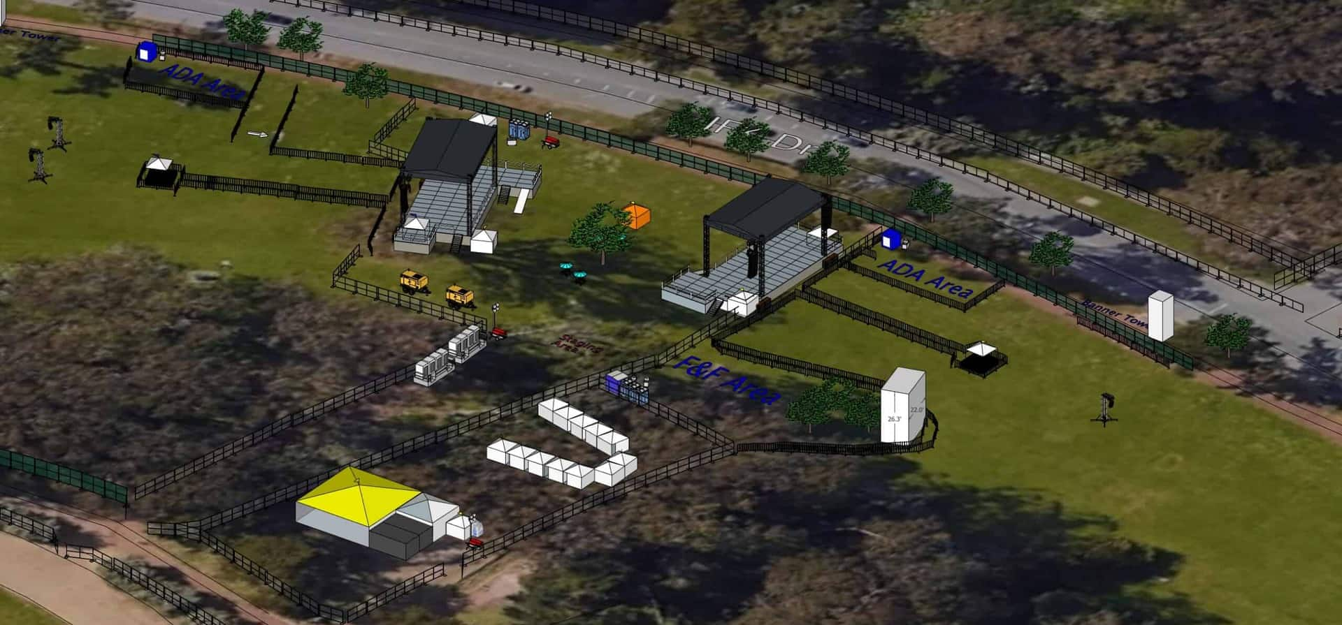 sketchup 2d festival modeling mapping