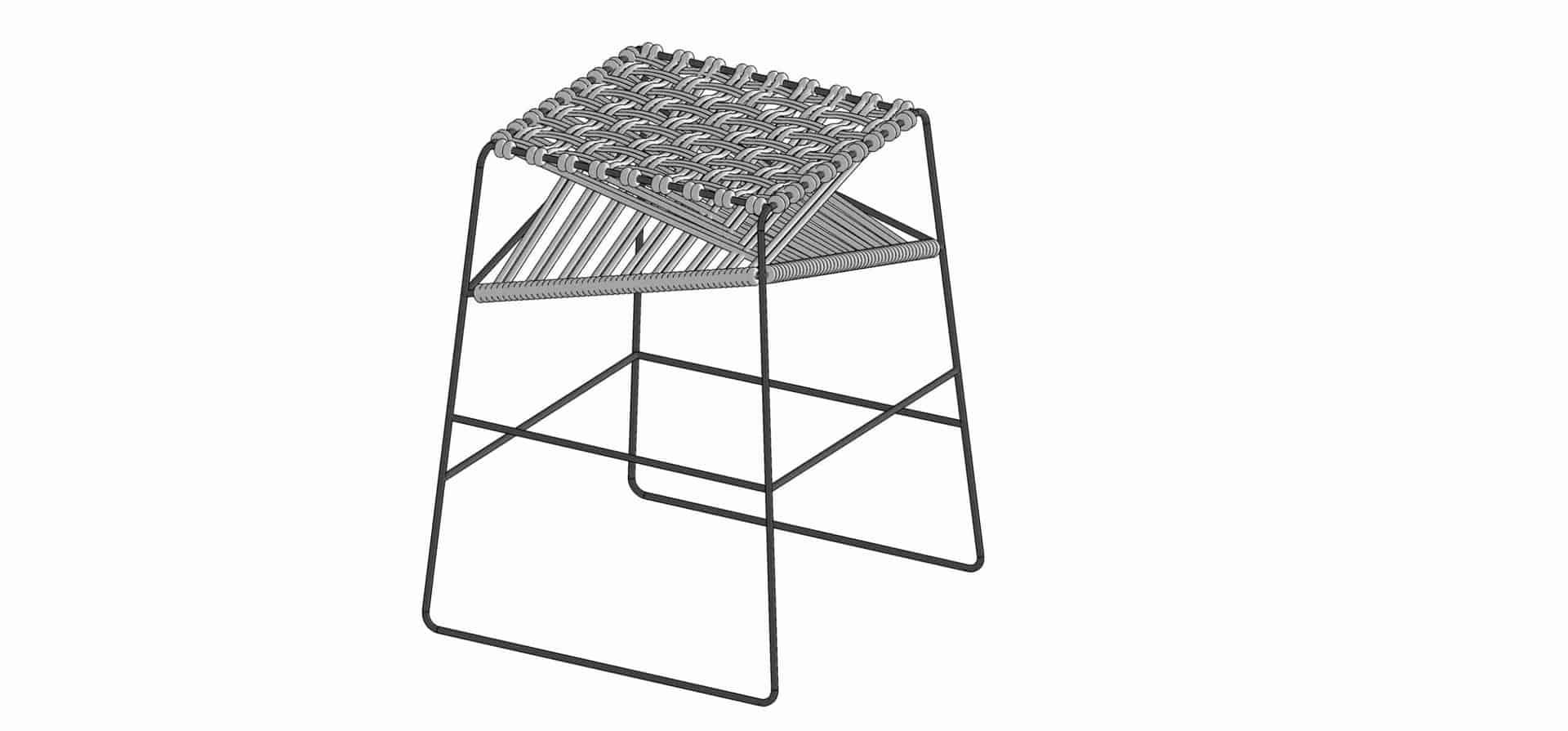 stool model sketchup