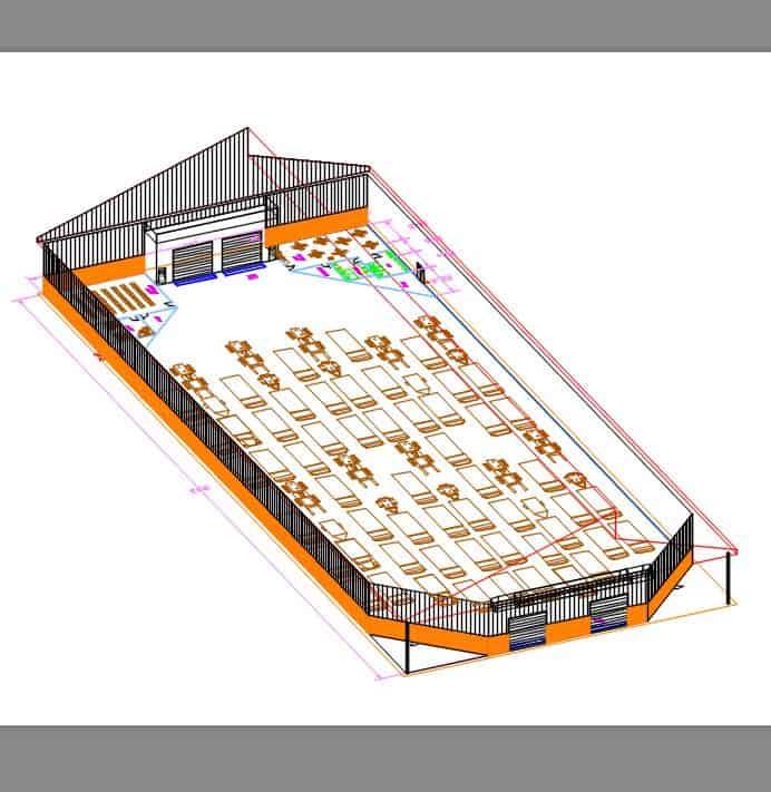 Vehicle Warehouse wo roof