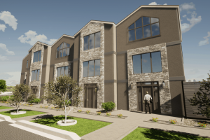 Townhome concept rendering