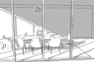 basic-sketchup-dining-room-front-view-freehand