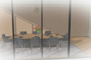 basic-sketchup-dining-room-front-view-paint-effect