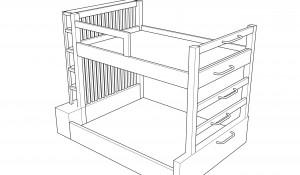 bunkbed model sketchup