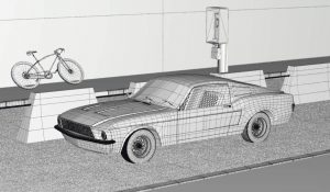 Mustang Classic Wireframe